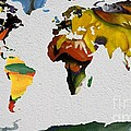 Franz Marc 4 World Map by John Clark