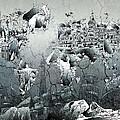 World Map Grunge Landmarks by Bekim Art