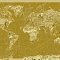 World Map Landmark Collage 10 by Bekim Art