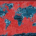 World Map Landmark Collage 11 by Bekim Art