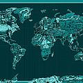 World Map Landmark Collage 4 by Bekim Art