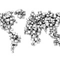 World Map Made From White Cubes by Jesper Klausen / Science Photo Library