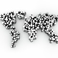 World Map Made Up Of Cubes by Jesper Klausen / Science Photo Library