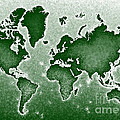 World Map Novo In Green by Eleven Corners
