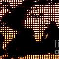 World Map Yellow Dots by Pixel  Chimp