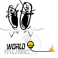 World Music by Museum Quality Prints -  Trademark Art Designs