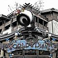 World Of Disney Signage Downtown Disneyland Sc by Thomas Woolworth