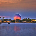 World Showcase Lagoon Sunset by Thomas Woolworth