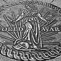 World War II Medallion Bw by Pablo Rosales