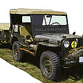 World War Two Army Jeep With Trailer  by Keith Webber Jr
