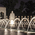 World War Two Memorial In D.c.  by John McGraw