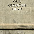 World War Two Our Glorious Dead Cenotaph by Imran Ahmed