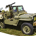 World War Two - Willys - Army Jeep  by Keith Webber Jr