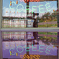 Worms And Coffee Sign by Barbara McDevitt