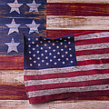 Worn American Flag by Garry Gay