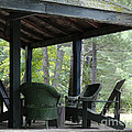 Worn Wicker Chairs On Old Veranda by Barbara McMahon