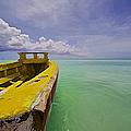 Worn Yellow Fishing Boat Of Aruba II by David Letts