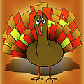 Worried Turkey Illustration by Gravityx9  Designs