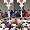Worshipers At Friday Prayers - Masjid Jame - Friday Mosque - Kuala Lumpur - Malaysia by David Hill