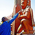 Worshipper At Festival Of Ram Nawami In Kathmandu-nepal    by Ruth Hager