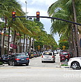 Worth Ave Palm Beach Fl Facing West by Robert Birkenes