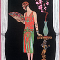 Worth Evening Dress Fashion Plate From Gazette Du Bon Ton by Georges Barbier
