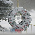 Wreath In A Snow Storm by Thomas Woolworth