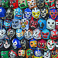Wrestling Masks Of Lucha Libre by Jim Fitzpatrick
