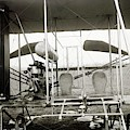 Wright Biplane Engine And Seats by Library Of Congress