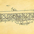 Wright Brothers Flying Machine Patent Art 1906 by Ian Monk