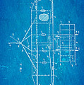 Wright Brothers Flying Machine Patent Art 2 1906 Blueprint by Ian Monk