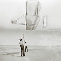 Wright Brothers Kitty Hawk Glider by Library Of Congress