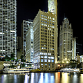 Wrigley Building At Night  by Sebastian Musial