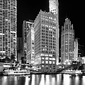 Wrigley Building Reflection In Black And White by Sebastian Musial