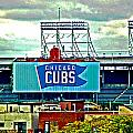 Wrigley Field Chicago Cubs by Ginger Wakem