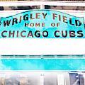 Wrigley Field Sign - X-ray by Stephen Stookey