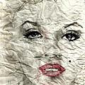 wrinckled Marilyn by PJ Lewis