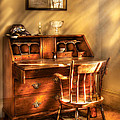 Writer - A Chair And A Desk by Mike Savad
