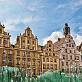 Wroclaw Fountain At The Town Square by Frank Bach