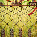 Wrought Iron With Red And Green by Kathleen K Parker