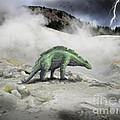 Wuerhosaurus Near Volcanic Vent by Frank Wilson