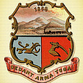 Wyoming Coat Of Arms - 1876 by Mountain Dreams