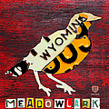 Wyoming Meadowlark Wild Bird Vintage Recycled License Plate Art by Design Turnpike