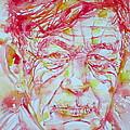 Wystan Auden  Watercolor Portrait by Fabrizio Cassetta