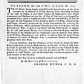 Wythe: Broadside, 1774 by Granger