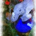 Xmas Elephant Ornament Photo Art 02 by Thomas Woolworth