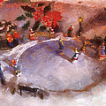 Xmas Skating Rink Photo Art by Thomas Woolworth