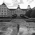 Yacht And Beach Club In Black And White Walt Disney World by Thomas Woolworth