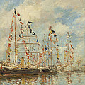 Yacht Basin At Trouville Deauville by Eugene Boudin