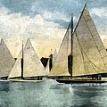 Yachting In Saugatuck by Michelle Calkins